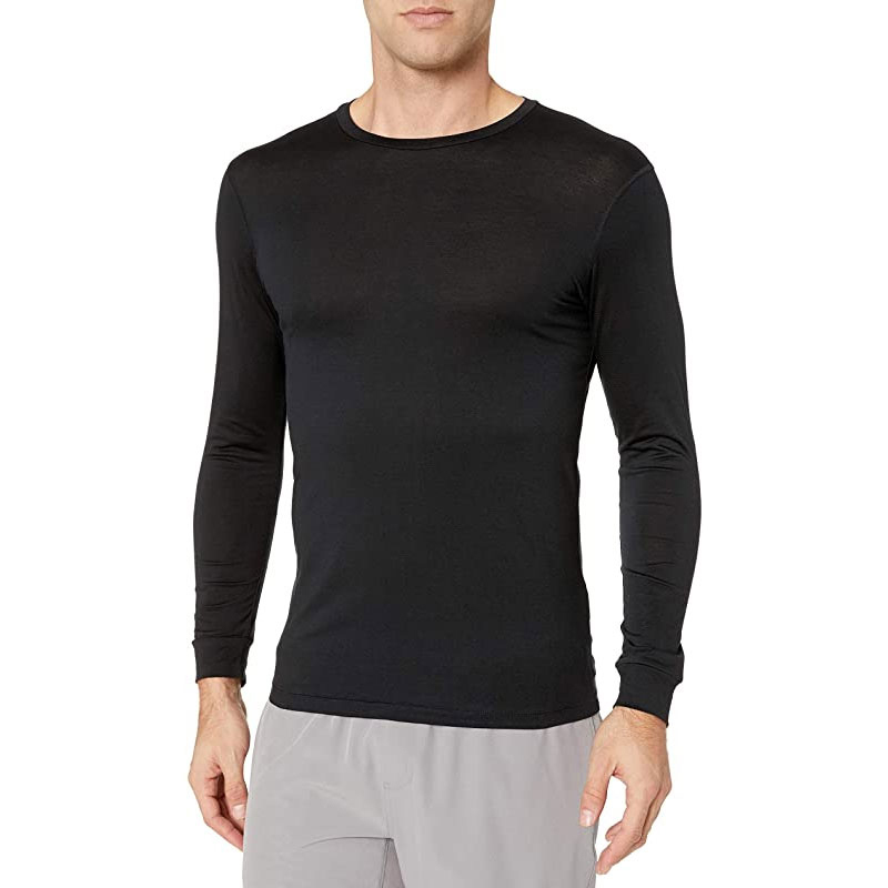 Wholesale O Neck Men Long Sleeve Shirts with Good Quality Custom Logo 100% cotton