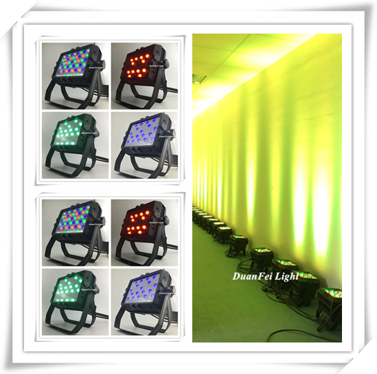 54x3w rgbw led par waterproof city color led rgbw wall washer dmx