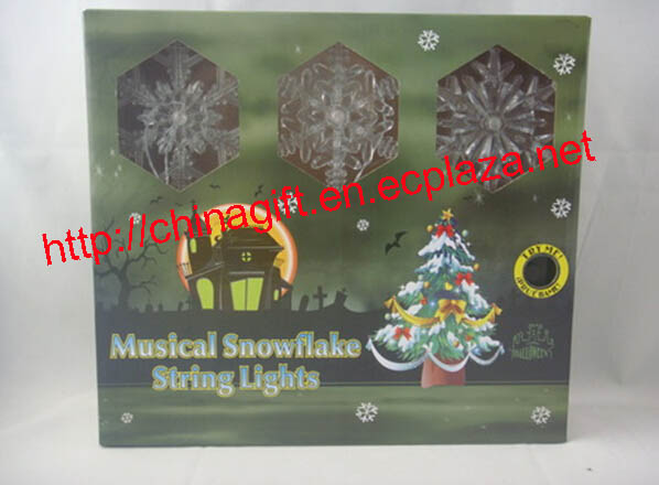 LED Musical Snowflake Christmas String Lights