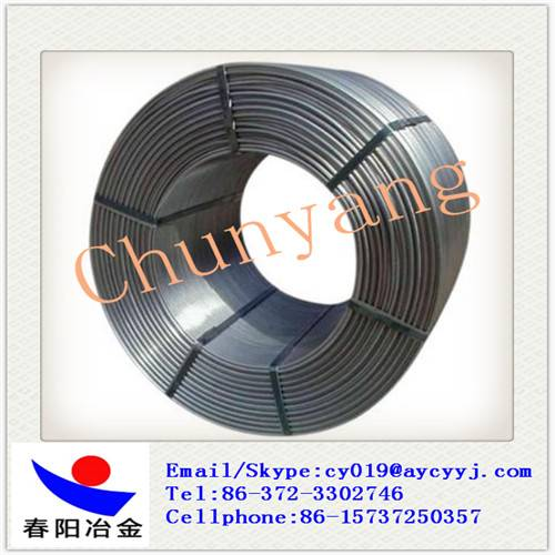13mm CaFe cored wire / Ferro calcium wire for steel making