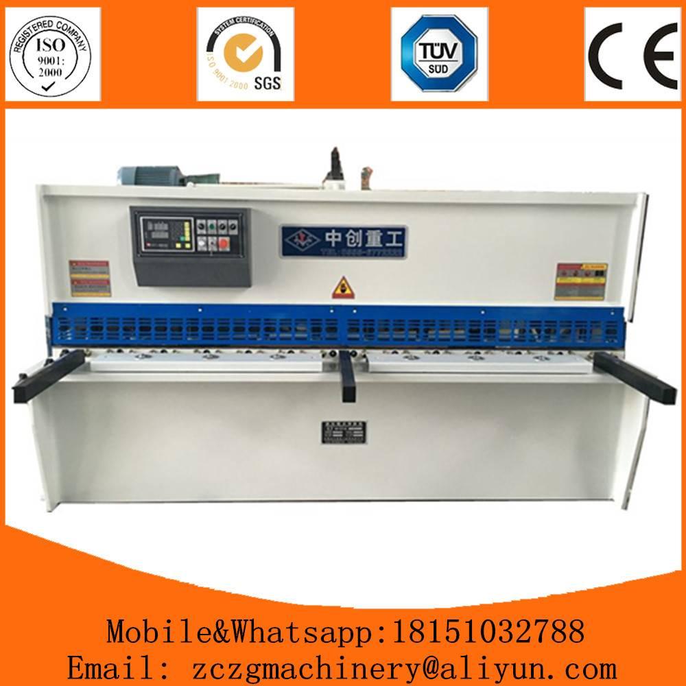 Hydraulic Swing Shearing Machine QC12Y-4x3200mm metal sheet cutting with CE certificate