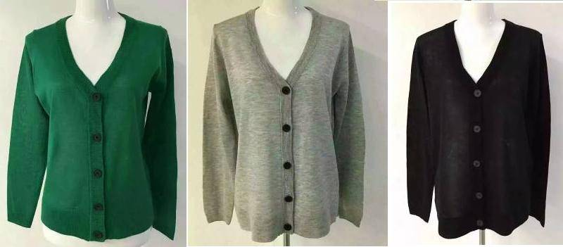 Hering branded stock available, 79,500pcs Ladies basic cardigan sweater TC1-687