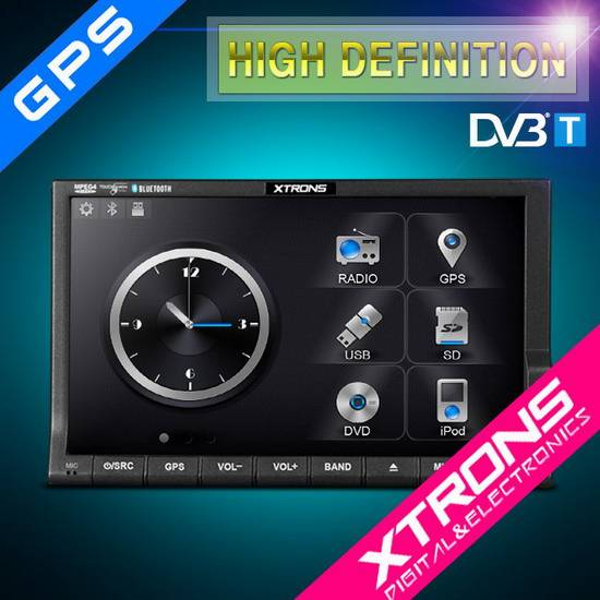 TD714SGD-7'' Touch Screen Digital LED Panel Car DVD Player with built in GPS and DVB-T