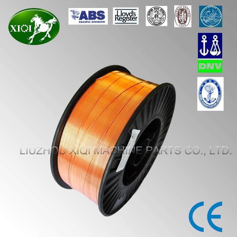 Gas shielded solid welding wire ER70S-6 with CEapproved