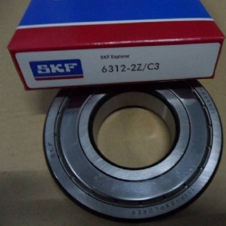 SKF Deep Groove Ball Bearings 6312-2Z/C3