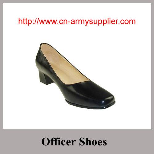 Full grain leather shining PU Army Police Officer shoes