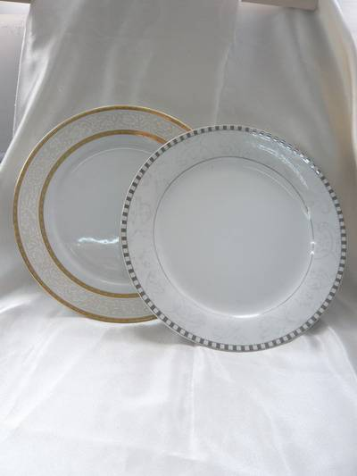 gold porcelain plate