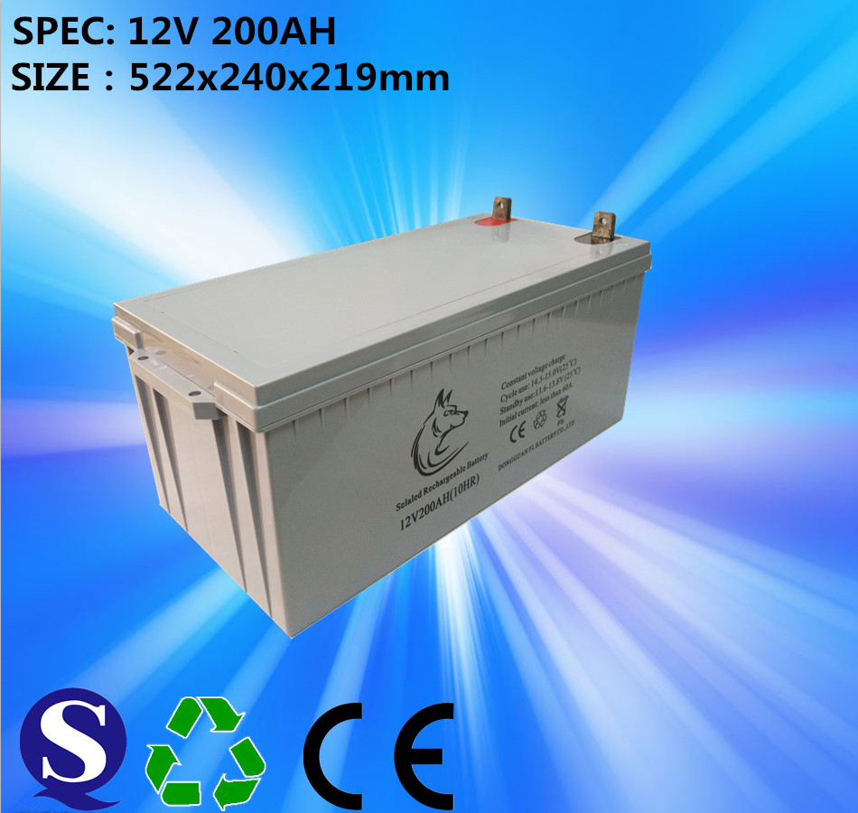Hot Sale Product Gel Sealed Lead Acid 12v 200ah Solar Battery With Best Price
