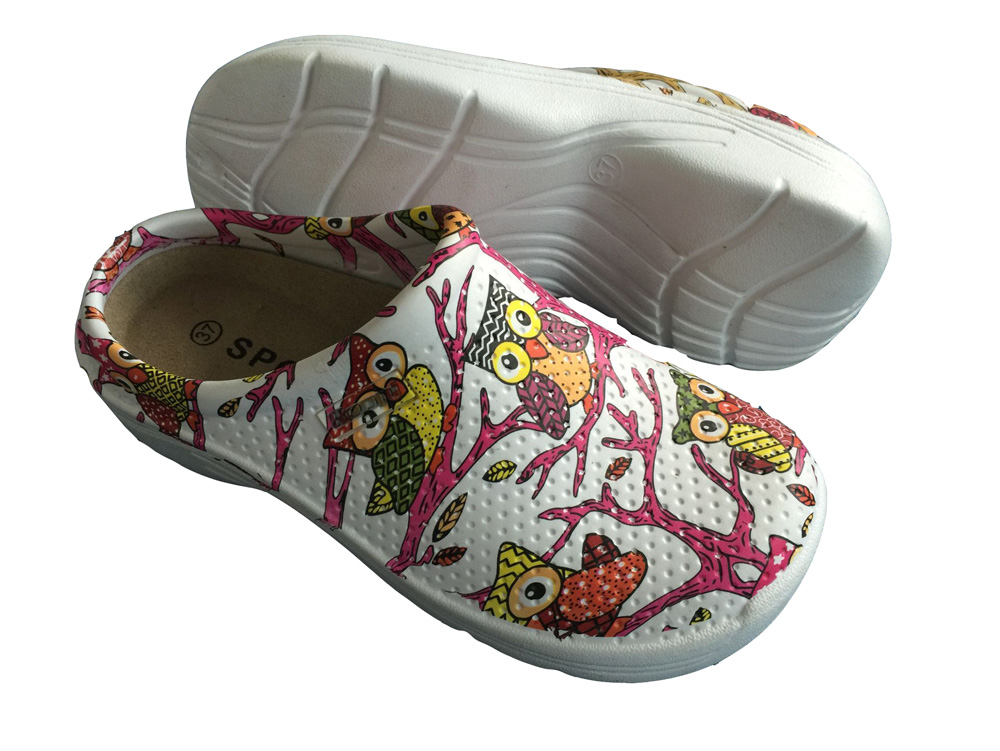 Print Injected Eva Garden Shoes Fashion Clogs Sandal slippers summer Foot protection
