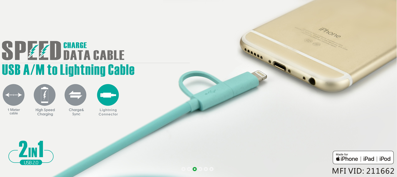 MFi Certified Lighting Cable for iphone USB A/M To Micro B Type C 3 in 1 Phone/Computer Cable