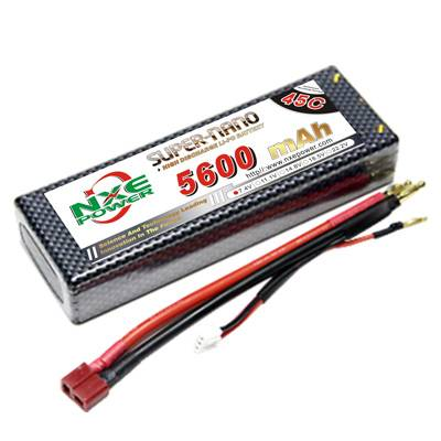 NXE5600mAh-45C-7.4V Hardcase RC Car Battery