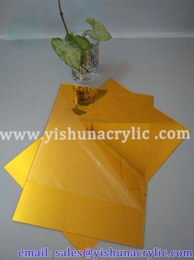 wholesale decoration gold mirror acrylic sheet