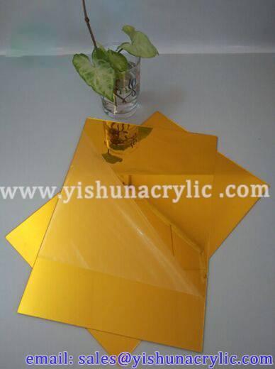 wholesale decoration gold mirror acrylic sheet