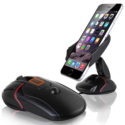 Compact foldable mouse car dashboard phone holder