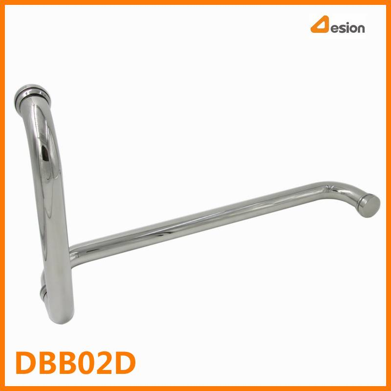 Stainless Steel Shower Door Tube Handle with Towel Handle