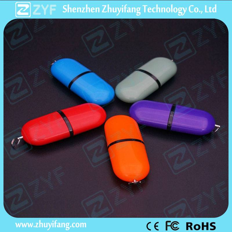 Plastic Pill Shape 8GB USB Flash Drive ZYF1265
