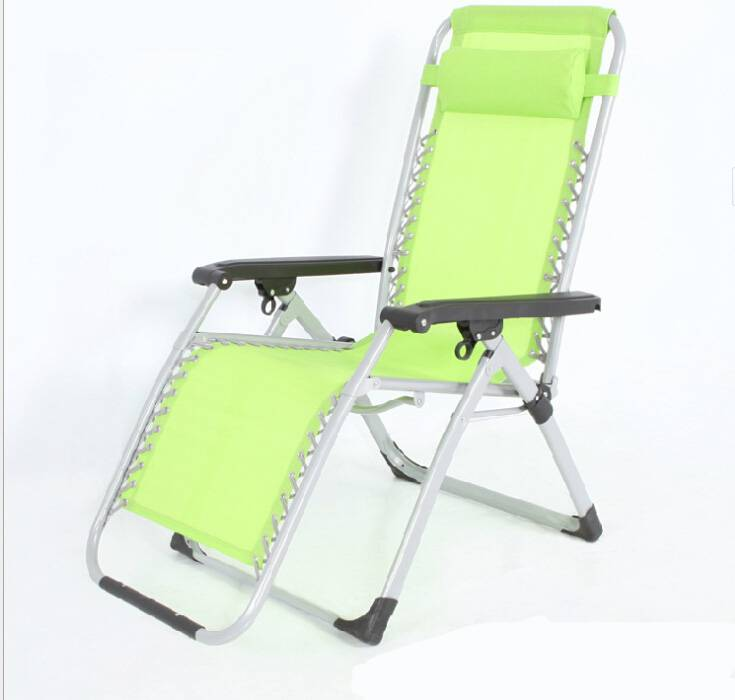 Luxury  portable lounge chair folding square tube  beach chairs office easy lazy  chair