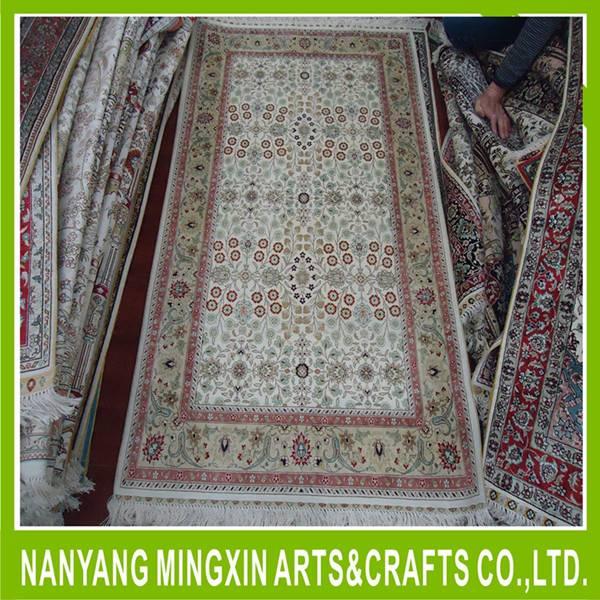 hereke turkish bedroom rug handmade artificial silk carpet
