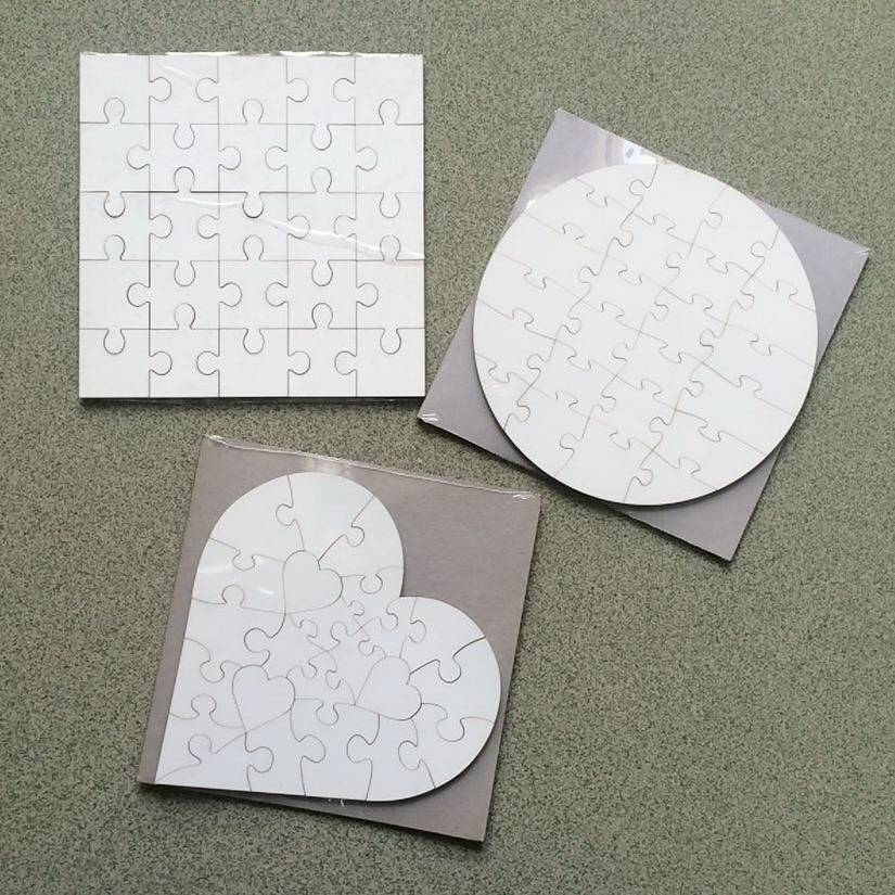 imprintable 3mm MDF puzzles for sublimation printing