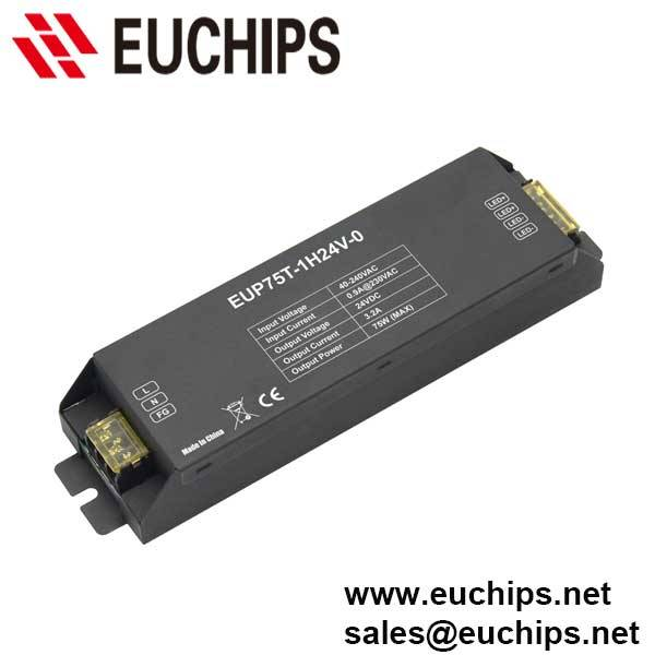 200-240VAC 75W 24VDC Triac constant voltage led dimmable driver EUP75T-1H24V-0
