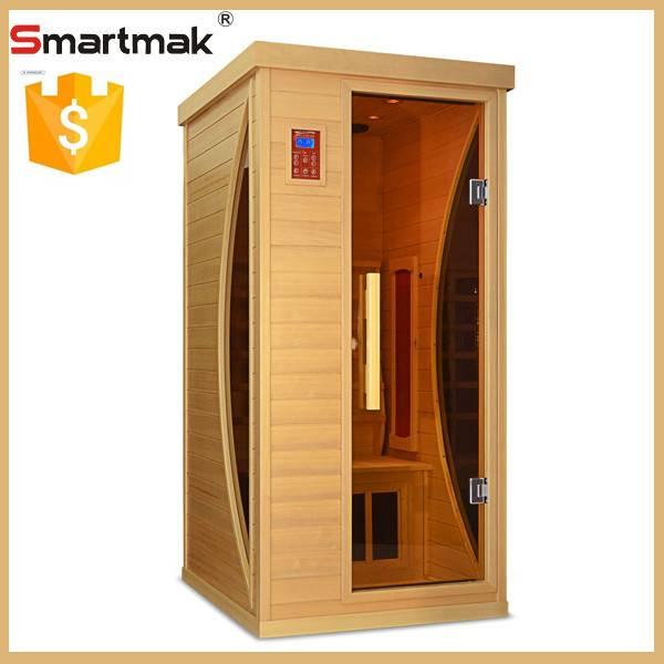luxury infrared sauna room with ceramic and carbon panel