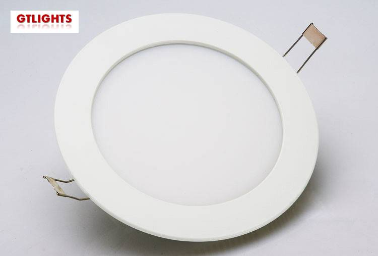 6W round recessed led panel lights