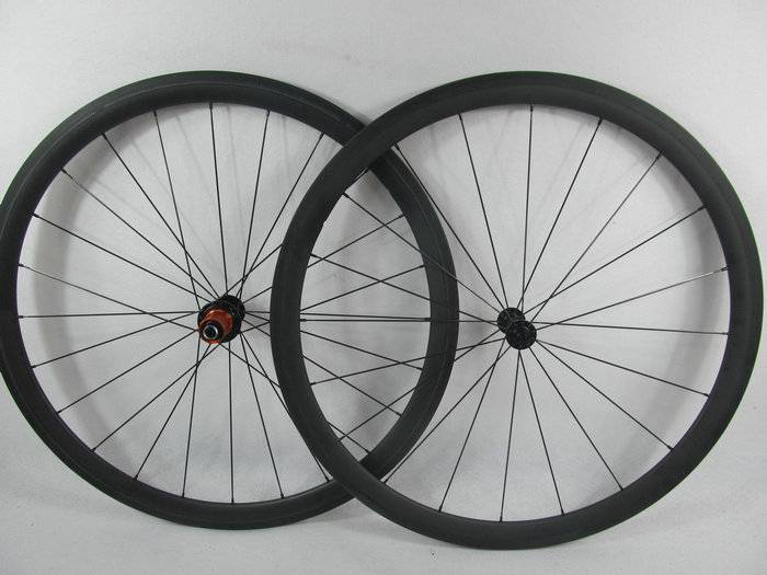 700C*38mm Cyclocross Tubular Carbon Wheels