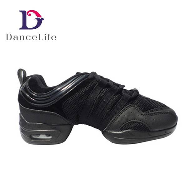 leather dance sneaker