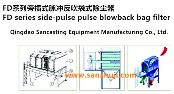 FD series side-pulse pulse blowback bag filter