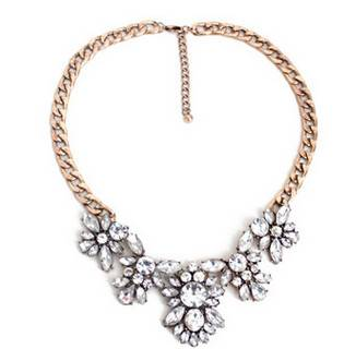 Cheap Sell Design Crystal Flower Petal Women Necklace