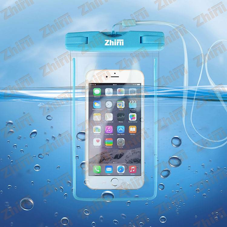 2016new waterproof mobile phone pouch for iphone 6, pvc waterproof pouch for swimming