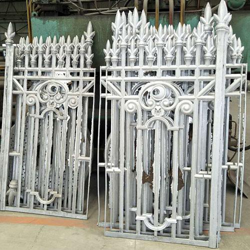 Aluminum Fence Casting Garden Fence Casting Foundry China Cast Aluminum Fence factory
