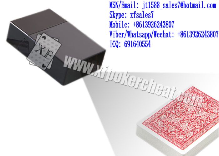 XF Black Plastic Cigarette Box Camera To Scan Invisible Bar-Codes Marked Playing Cards For Poker