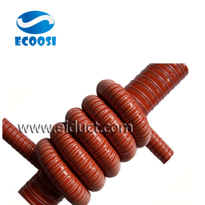 Silicone Coated Glass Fiber Fabric High Temperature Air Duct Hose