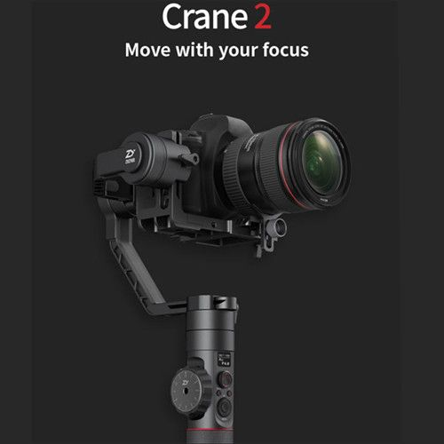 2017 NEW Zhiyun Crane 2 3 axis Gimbal Stabilizer for Camera Follow Focus Payload 3.2kg