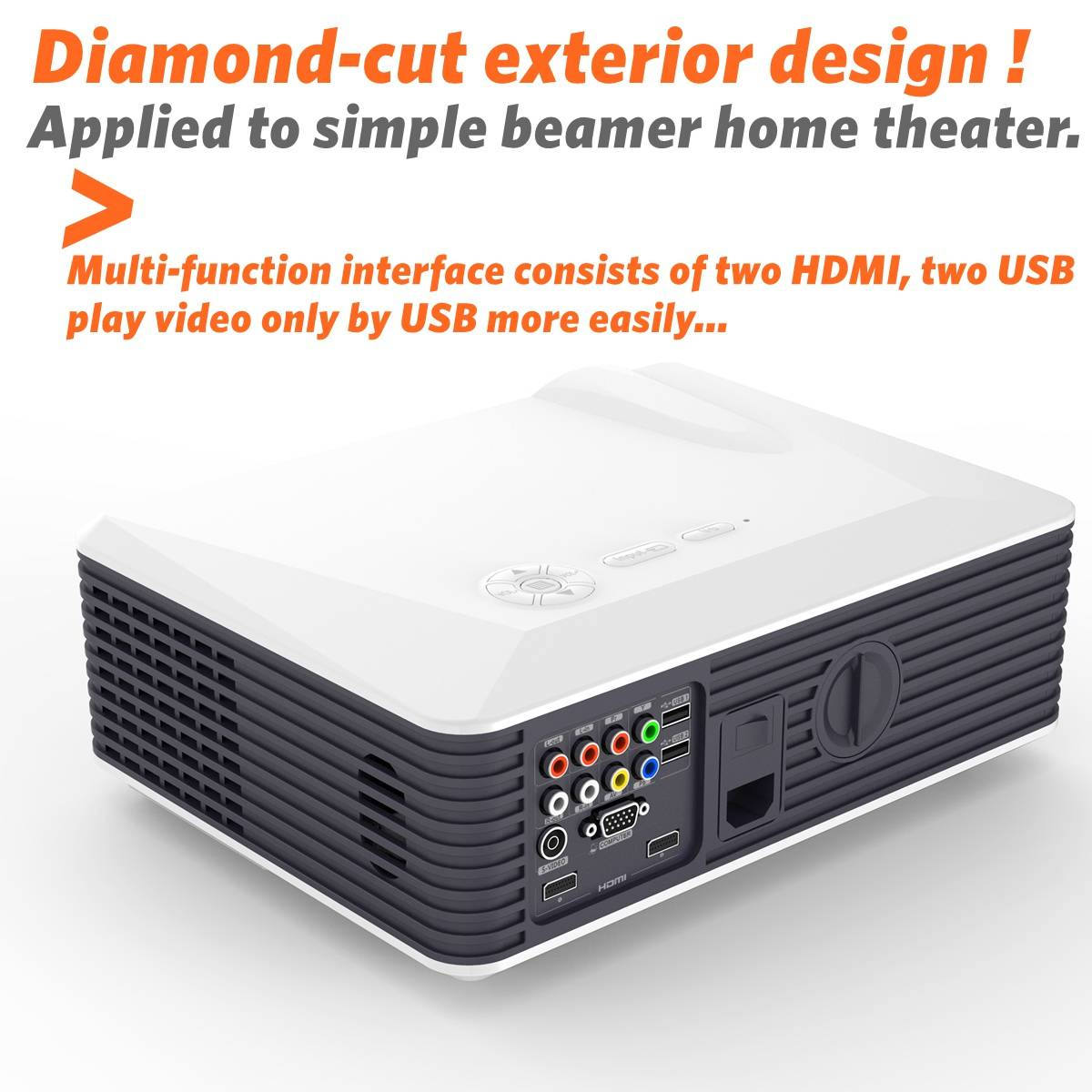 PRS220 WIFI simplebeamer Android 4.4(8G+1G) smart led projector ,2500 lumens wireless Projector , fo