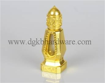 shining golden metal perfume bottle