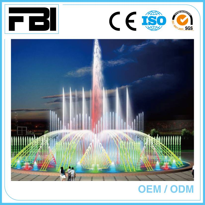 seagull swing fountain, dancing with music and underwater led light
