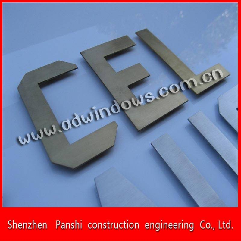 Mirror polishing stainless steel anti-rust letter sign