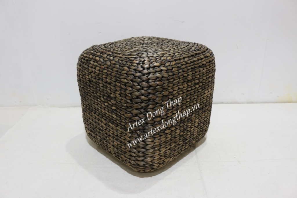 Eco-friendly water hyacinth stool for office furniture-SD6475A-1BL01