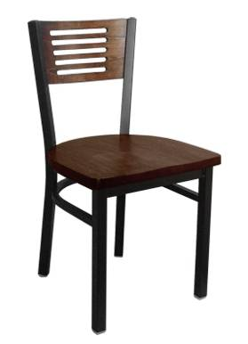 The 5 slat metal chair restaurant chair dinning room chair