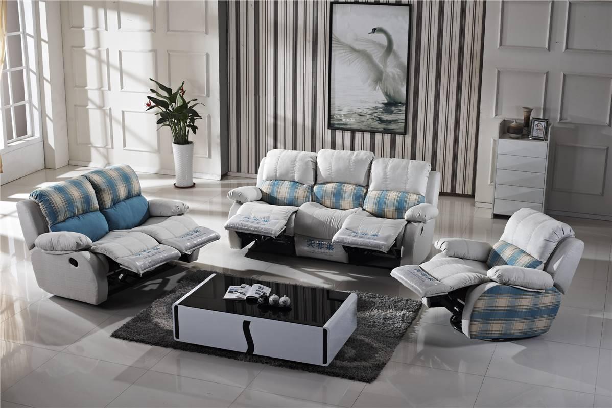 original supplier electric reclining microfiber sofa