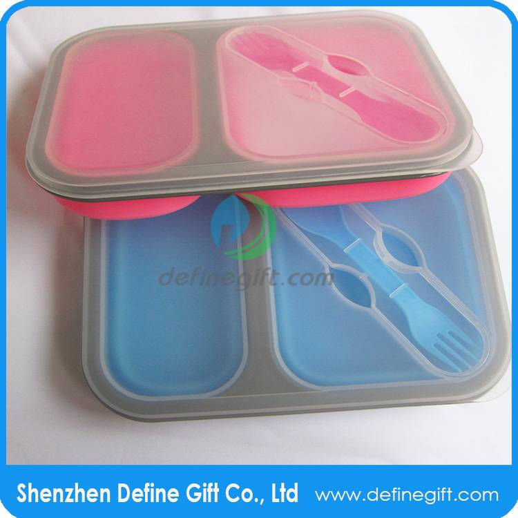 BPA Free silicone folding lunch box,folding lunch box,recyclable bento boxes