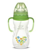 350ml Wide-neck finger bottle with hanger( dual color)