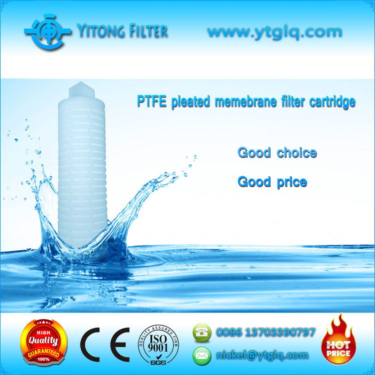 PTFE Pleated Membrane Filter Cartridge