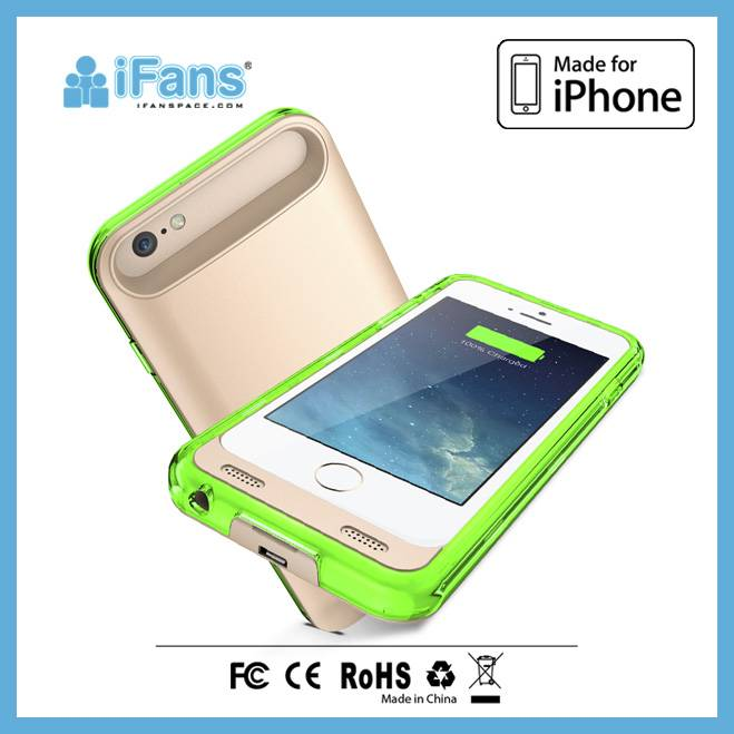 ultra silm powercase bumper/battery charger case for iPhone 6 3100mah