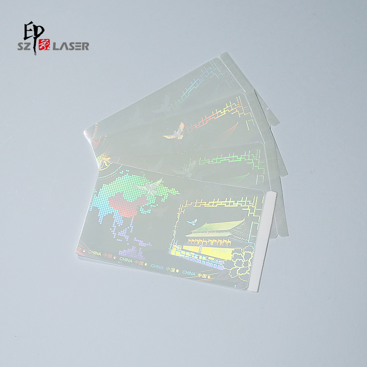 Adhesive hologram clear id overlay, stick to the id card