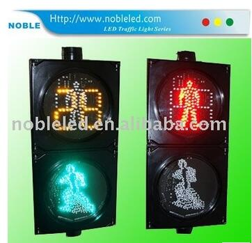200mm solar traffic signal lights with countdown timer