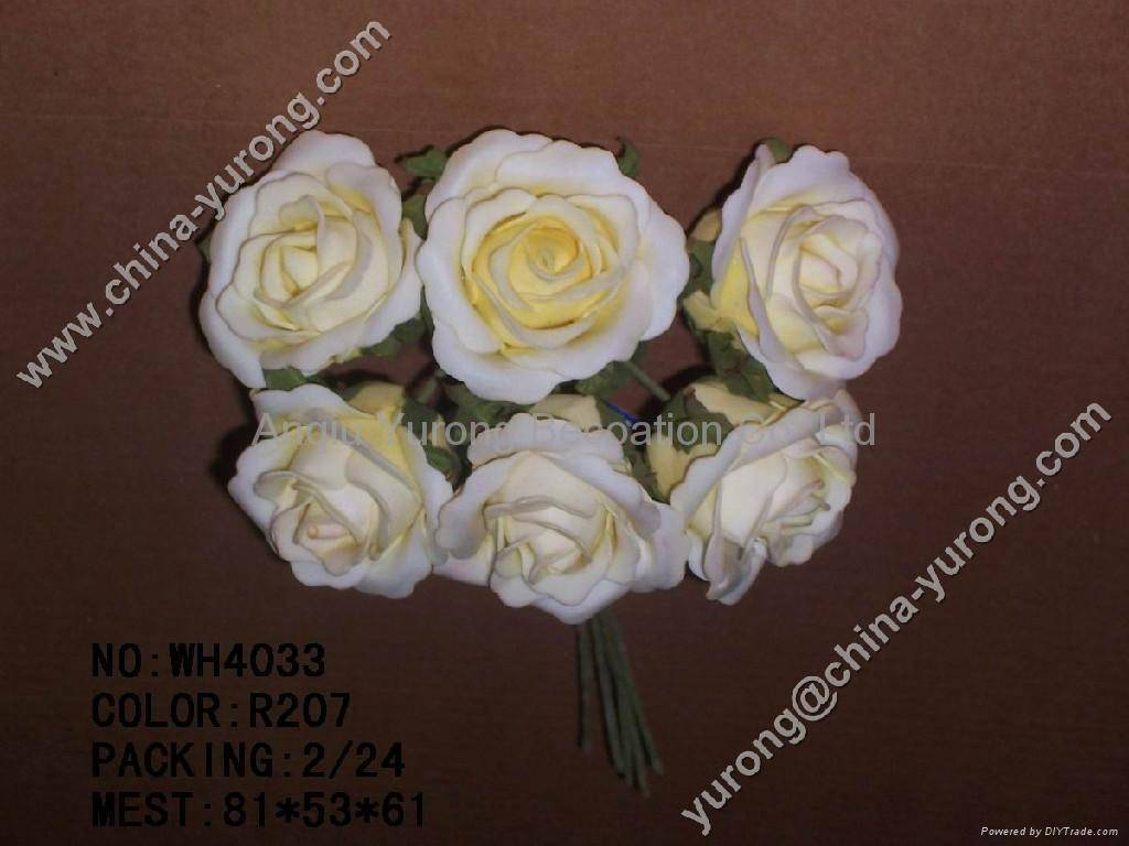 artificial flowers with man-made
