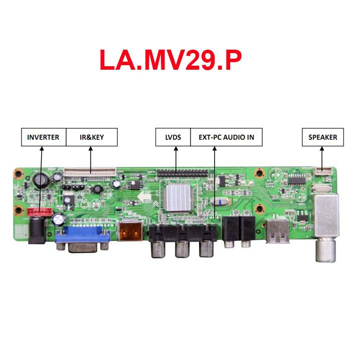 LA.MV29.P TV Controller Board LA.MV29.P with VGA/HDMI/AV/USB/TV